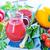primavera · frutas · cóctel · jugo · naturaleza · vidrio - foto stock © tycoon