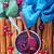 frambuesa · yogurt · postres · metal · bandeja · azul - foto stock © tycoon