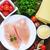 鶏 · フィレット · プレート · 表 · 葉 · 背景 - ストックフォト © tycoon