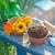 coloré · fleurs · jardin · outils · table · en · bois · isolé - photo stock © tycoon