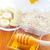 燕麦 · ガラス · ボウル · 木製のテーブル · バナナ - ストックフォト © tycoon