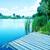 озеро · Blue · Sky · дома · дерево · весны · лес - Сток-фото © tycoon