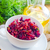fresh salad with beet and walnuts vegetarian salad stock photo © tycoon