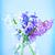 azul · flores · rosa · jarrón · resumen - foto stock © tycoon
