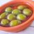 bruschetta · domates · yeşil · zeytin · sarımsak · fesleğen - stok fotoğraf © tycoon