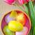 イースターエッグ · イースター · 花 · 塗料 · 卵 · 暗い - ストックフォト © tycoon