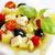cottage · cheese · salade · aardbei · mandarijn- · sinaasappelen · blad - stockfoto © tycoon
