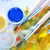 Blauw · borstel · verf · studio · onderwijs · kleur - stockfoto © tycoon