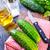 salatalık · görüntü · erkek · el · bıçak - stok fotoğraf © tycoon