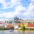 turisztikai · csónak · Prága · híd · égbolt · víz - stock fotó © tycoon