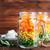 salata · çanaklar · sağlıklı · gıda · beyaz · ahşap · masa - stok fotoğraf © tycoon