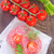 sandviç · kırmızı · plaka · et · yağ · domates - stok fotoğraf © tycoon