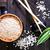 arroz · aislado · blanco · alimentos · madera · verde - foto stock © tycoon
