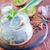 fiatal · saláta · cékla · hagymák · savanyúság · étel - stock fotó © tycoon