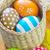 Paskalya · yuva · pembe · paskalya · yumurtası · çiçekler · mutlu - stok fotoğraf © tycoon