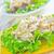 saludable · pollo · a · la · parrilla · ensalada · cesar · queso · mesa · de · madera · hoja - foto stock © tycoon