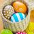 witte · houten · kleurrijk · paaseieren · Pasen · gelukkig - stockfoto © tycoon