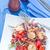sült · rizs · zöldségek · tavasz · vacsora · piros - stock fotó © tycoon
