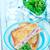 croustillant · baguette · sandwich · oeuf · planche · à · découper - photo stock © tycoon
