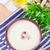 çorba · mantar · yeşil · mavi · plaka · sıcak - stok fotoğraf © tycoon