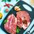 crudo · cerdo · grupo · rojo · carne - foto stock © tycoon