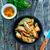 patate · foto · aglio · spezie · tavolo · in · legno - foto d'archivio © tycoon