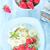 świeże · truskawki · Sałatka · bazylia · pieprz · żywności - zdjęcia stock © tycoon