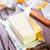 manteiga · comida · azul · pão · leite · Óleo - foto stock © tycoon