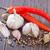 baharatlar · gıda · el · yeşil · salata · çelik - stok fotoğraf © tycoon