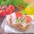 sandviç · gıda · arka · plan · kahvaltı · yağ · domates - stok fotoğraf © tycoon