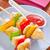 tyúk · kebab · zöldségek · tányér · gyümölcs · hús - stock fotó © tycoon