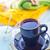 copo · forma · coração · livro · mesa · de · madeira · café - foto stock © tycoon