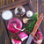 cipolla · aglio · chiodi · di · garofano · bianco · foglia · sfondo - foto d'archivio © tycoon