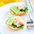 avokádó · Seattle · saláta · mustár · mártás · fehér - stock fotó © tycoon