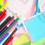 kolor · przybory · szkolne · długopisy · kolorowy · ołówki · pędzel - zdjęcia stock © tycoon