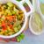 zöldségek · pörkölt · szeletek · padlizsán · paprikák · krumpli - stock fotó © tycoon