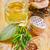 lezzet · yağ · şişeler · otlar · lavanta · biberiye - stok fotoğraf © tycoon