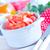 paradicsom · saláta · salátástál · asztal · fa · levél - stock fotó © tycoon