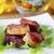 alla · griglia · carne · patatine · fritte · carbone · di · legna · peperoni · legno - foto d'archivio © tycoon