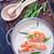 cinese · zuppa · bianco · ceramica · ciotola · cucchiaio - foto d'archivio © tycoon