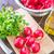 vers · salade · radijs · eigengemaakt · yoghurt · dressing - stockfoto © tycoon