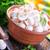 egész · szeletel · gesztenye · gombák · tábla · kés - stock fotó © tycoon