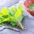 friss · menta · fehér · váza · desszertek · fából · készült - stock fotó © tycoon
