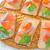 sanduíche · salmão · café · da · manhã · suco · de · laranja · comida · peixe - foto stock © tycoon