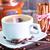 kávé · fahéj · kávézó · fekete · csésze · kötél - stock fotó © tycoon