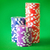 rechtdoor · poker · spel · chips · groene · Blauw - stockfoto © tycoon