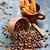 grãos · de · café · copo · tabela · textura · abstrato · fundo - foto stock © tycoon