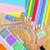 material · escolar · isolado · branco · escolas · comprimido · topo - foto stock © tycoon
