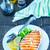 lazac · szeletek · fekete · kaviár · pázsit · étel - stock fotó © tycoon