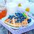 krep · şurup · beyaz · plaka · meyve - stok fotoğraf © tycoon